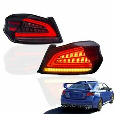 Smoke Tail Lights Rear Lamps w/ Sequential Indicator For 2015-2019 Subaru WRX