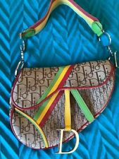 Christian Dior Rasta collection canvas and leather shoulder bag 100% Authentic
