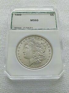 1989 Morgan Silver Dollar In Plastic Holder