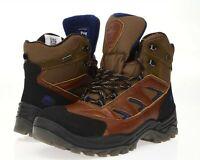 Mens PAJAR 160162 Brown Leather Waterproof Winter Boots sz. 42 / 9-9.5
