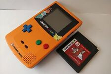 Nintendo Gameboy Color Pokemon Limited edition Orange color console, Game-a1118-