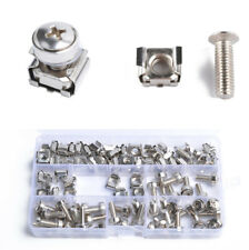50x Cage Nuts + Screws + Washers for Square Hole Racks Server Rack or Cabinet