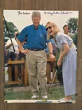 BILL CLINTON and  HILLARY RODHAM CLINTON signed 11x14 photo ~ JSA/LOA