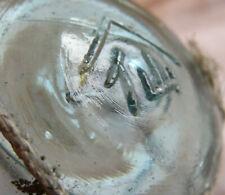 "Japanese Blown Glass Float 2.5"" Wp Mark 310 Aqua Netted Vintage"