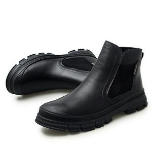 New Men's High-Top Soft Comfortable Warm Shoes Round Toe Work Casual Ankle Boots