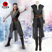 DFYM New Hot Star Wars The Last Jedi Rey Cosplay Costume Full Set