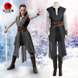 DFYM Star Wars Cosplay The Last Jedi Rey Cosplay Costume Women Halloween Outfit