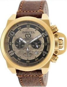 Invicta 18734 Corduba Chronograph Lmtd Ed Distressed Brown Leather Mens Watch