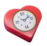 Lego 2 Stück Herz in rot mit Uhr Aufduck Wecker 39739pb01 Fliese 1x1 City Neu
