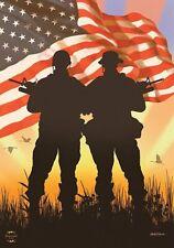 """Briarwood Lane American Heroes Patriotic Military Troops Garden Flag 12.5"""" x 18"""""""