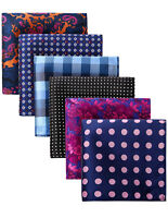 HC423L Black Check Men Silk Party Handkerchief Pocket Square Hanky