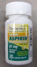 """Low Dose """"Baby"""" Aspirin 81mg Enteric Coated TIME-CAP LABS 120 Tablets"""