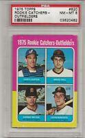 1975 TOPPS #620 ROOKIE CATCHERS, PSA 8 NM-MT, GARY CARTER ROOKIE, HOF,  L@@K