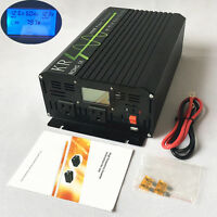 Car Power Inverter 1000W 12V to 120V 60HZ LCD Pure Sine Wave Inverter with USB