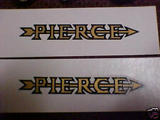 Pierce Arrow Bicycle Decal Set of two 1920s - 1930s Water Slide like orignal