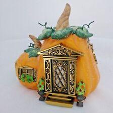 Partylite Pumpkin Cottage House Halloween Figure #1 Tealight Candle Holder P8209