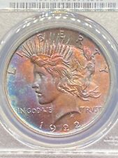 1922 Peace Dollar PCGS Uncirculated w Questionable Color - Looks like NGC Star ?