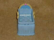 Fisher Price Loving Family Dollhouse Blue & Yellow Baby Bed Crib