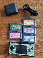 Nintendo Gameboy Micro Camo Handheld System w/Charger & 5 game lot