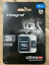 16GB Micro SDHC Tarjeta De Memoria-Rápido Clase 10 Con Adaptador Sd
