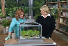 DISCONTINUED QVC Martha Stewart Fairy Garden Authentic Metal Glass Terrarium