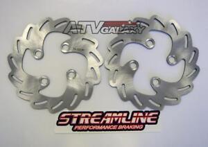 Streamline Front Pair Brake Disc Rotors Suzuki LTR450 LTR LT-R 450 All Years