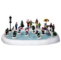 Lemax HOCKEY IN THE PARK SET OF 19 #44766 Animated With Soundtrack BNIB