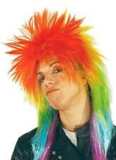 Peluca disfraz punki multicolor