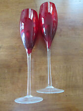 Champagne flute - Red color
