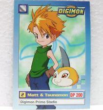 DIGIMON TRADING CARD - MATT & TSUNOMON 5/34 - CARTE UFFICIALI SERIE TV-1a SERIE