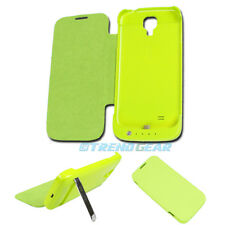 3500MAH EXTERNAL BACKUP BATTERY POWER BANK CASE COVER GREEN SAMSUNG GALAXY S IV