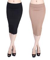 D2D Women's Formal Office Basic Stretch Knit Knee Length Pencil Skirt