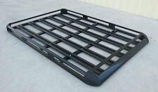 200x112cm  Black Coated Aluminium Car/4WD Roof Rack Luggage Basket + 2xCross Bar