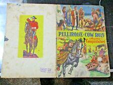 album PELLIROSSE E COW BOYS - ED. LAMPO 1954 con 24 figurine su 300 - BUONO