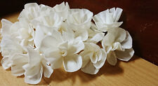 300 Morning Glory White Balsa Wood Sola Diffuser Flowers 4 cm Dia.