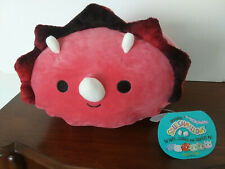 """Tristan Red Triceratops Dinosaur 8"""" Squishmallow Plush Stackable Christmas 2020"""