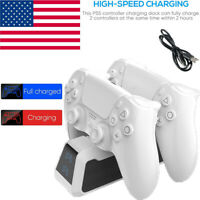 Dual Controller LED Charger Dock Station USB Charging Stand For PS5 PlayStation5