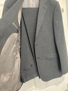 Men's Grey 2 piece Suit  Blazer /Trousers SZ EUR 50 UK 40