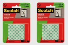 2 ~ Scotch MOUNTING SQUARES White 16 pcs Double-Sided Foam Tape Strong Bond 111P