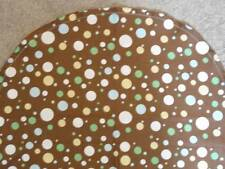 BASSINET SHEET/ COTTON  / ASSORTED BLUE GREEN WHITE POLKA DOTS ON BROWN