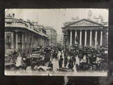 1910 England Picture postcard Cover to Usa The Royal Exchange Bank Of England