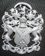 "Scottish Rampant Unicorn with Lion, Driveway Gate Crest,Cast Aluminum,23""x 19"""
