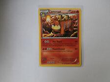 Carte Pokemon Camerupt 130 pv Noir et Blanc Frontières Franchies rare !!!