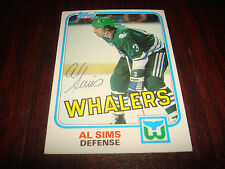 1981 TOPPS # 85 AL SIMS WHALERS SIGNED AUTOGRAPH NHL HOCKEY CARD