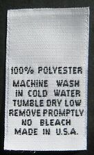 50 pcs WOVEN LABELS, CARE LABEL - 100% POLYESTER