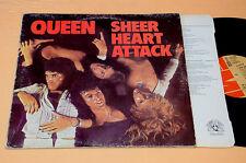 QUEEN LP SHEER HEART ATTACK 1°ST ORIG ITALY 1974+INNER TESTI OTTIME CONDIZ