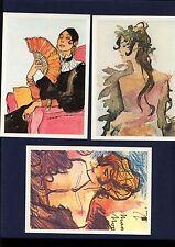 HUGO PRATT serie completa 6 cartoline - LE NUVOLE PARLANTI (anni '80) - RARE!!