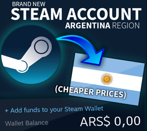 Brand New ARGENTINA STEAM ACCOUNT - ✅ No VPN needed ️✅ Cheaper Store ️✅