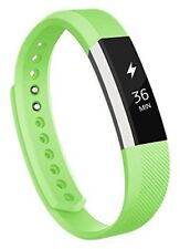 Fitbit Alta Band Adjustable Replacement Bands Green Size Large With  Metal Clasp