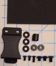"Do It Yourself DIY IWB Medium Holster Kit 1.5"" Belt Clip .080 Black Kydex 8""X8"""